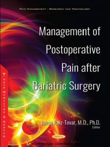 Management of pain after bariatric surgery
